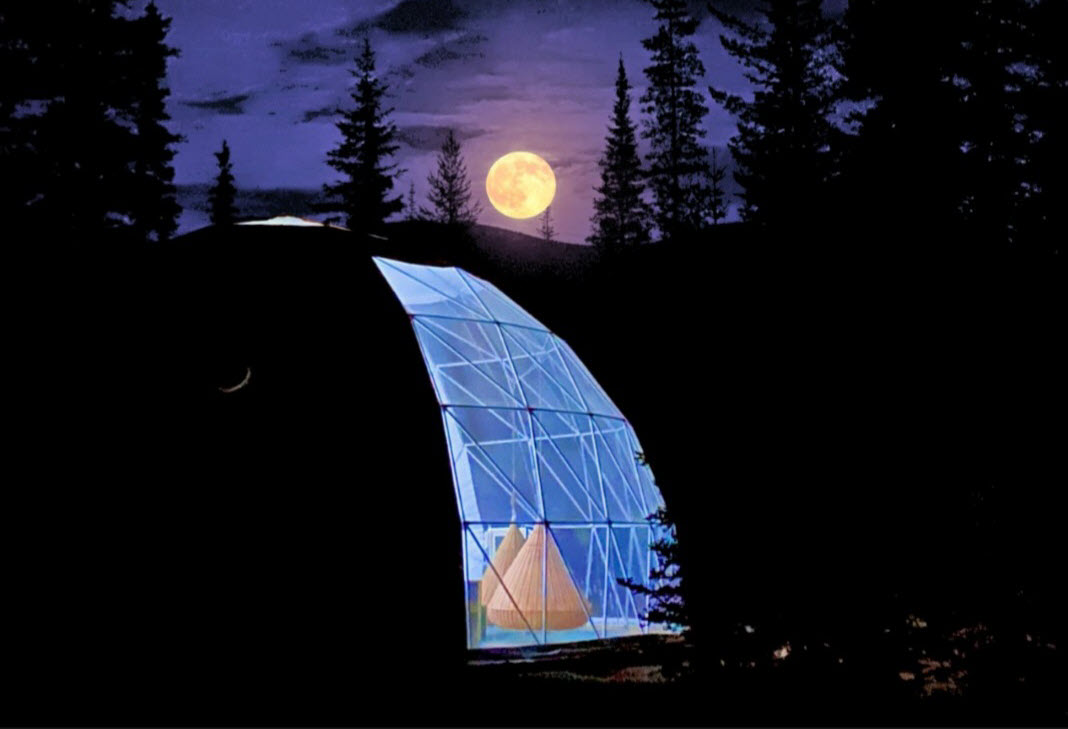 Dome Moonset